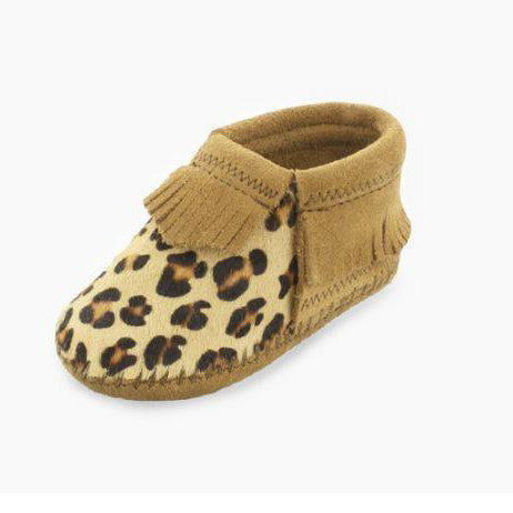 Minnetonka Leopard Infant Moccasin