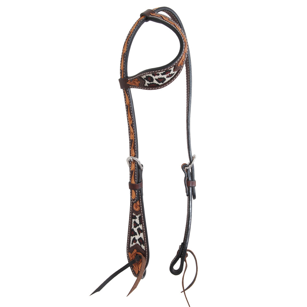 Oxbow Safari Beaded One Ear Headstall