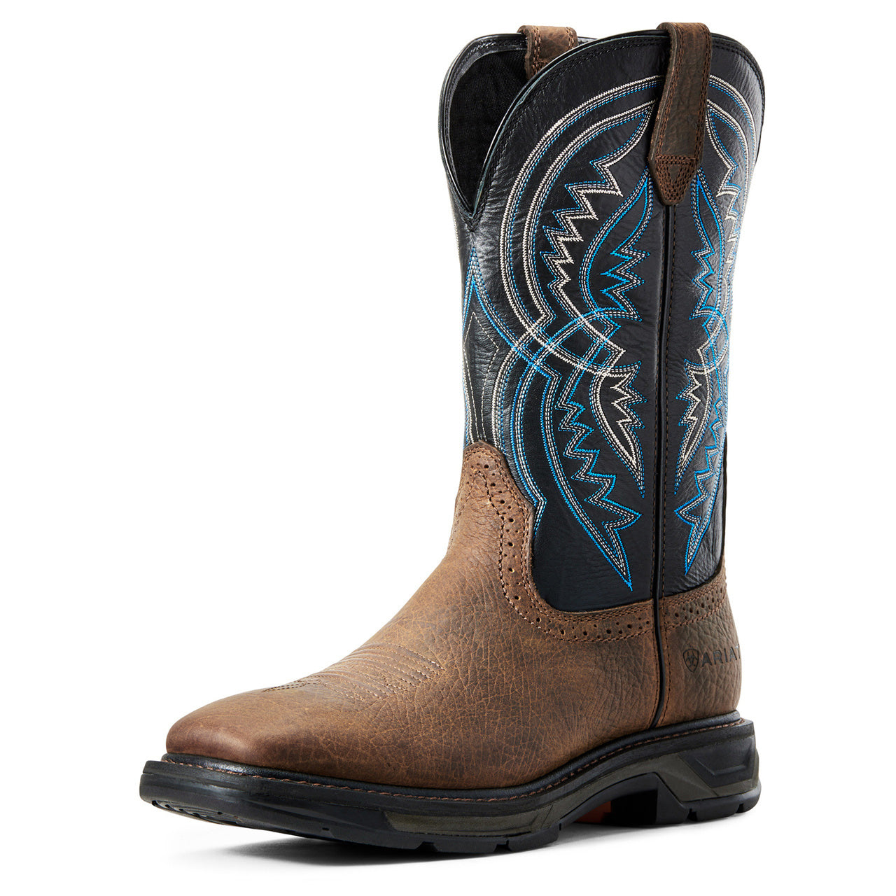 Ariat Men\'s Brown And Blue Work Hog Xt Coil Work Boots
