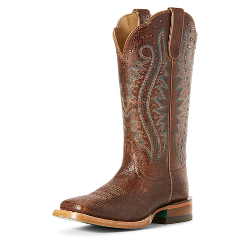 Ariat Women's Adobe Crackle Montage Square Toe Boot