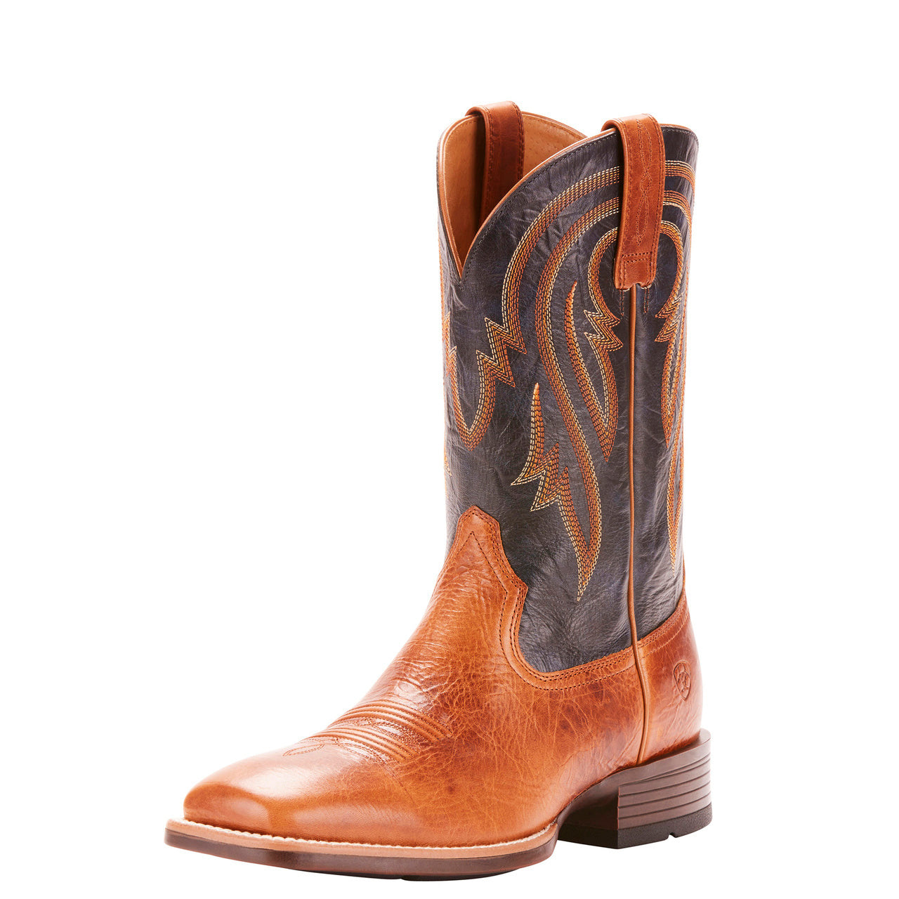 Ariat® Men/'s Plano Gingersnap Army Blue Square Toe Boots 10025166