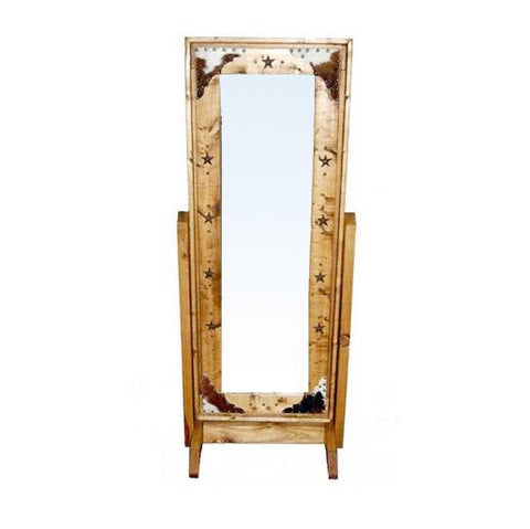 COWHIDE CHEVEL MIRROR