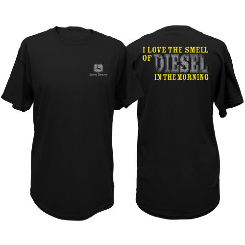 John Deere Men's Black I Love the Smell of Diesel T-Shirt
