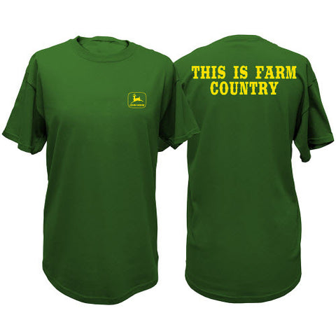 John Deere Men's Green This Is Farm County T-Shirt