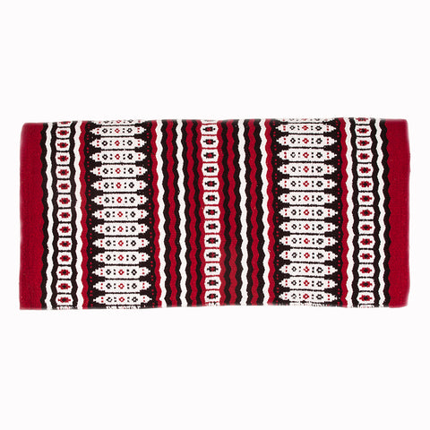Mustang- Red and Black Canyon Wool Blanket