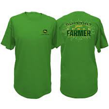 John Deere Green Support Your local Farmers Tee