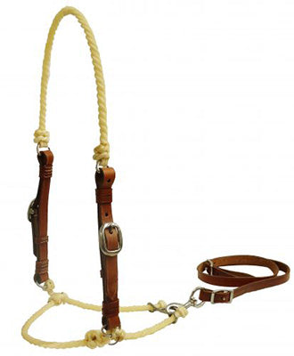 Showman Rope Tie Down with Leather Cheeks
