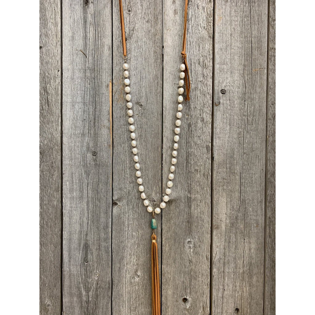 J.Forks Designs Freshwater Pearl Tassel Necklace