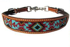 Shiloh Turquoise/Brown/Burgundy Beaded Wither Strap