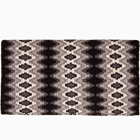 Mustang Black and White Mohair Woven Blanket