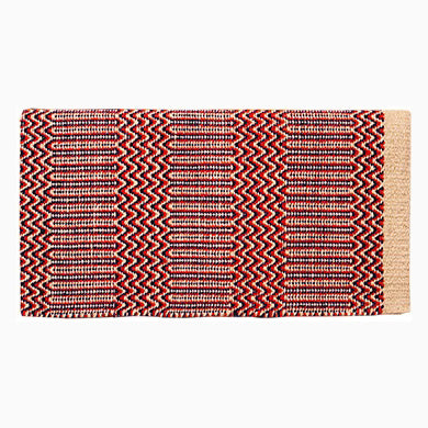 Mustang Red and Tan Double Weave Saddle Blanket