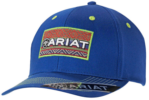 Ariat Blue/Serape Patch Cap