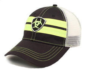 Ariat Black and Lime Mesh Cap