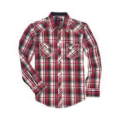 Ely / Walker Red, White, Blue Plaid Shirt