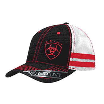 Ariat Black and Red Mesh Cap
