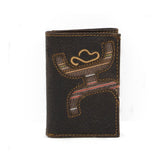 Hooey Tri-Fold Brown Wallet