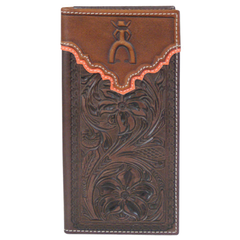 Brown Tooled Punchy Checkbook