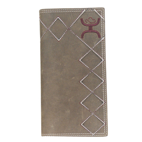 Hooey Signature Wallet Maroon Accents