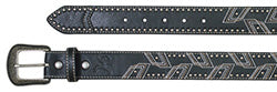 Hooey Men's Black and Tan Geometric Stud Belt