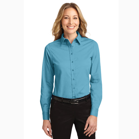 Women's Maui Blue Long Sleeve Shirt