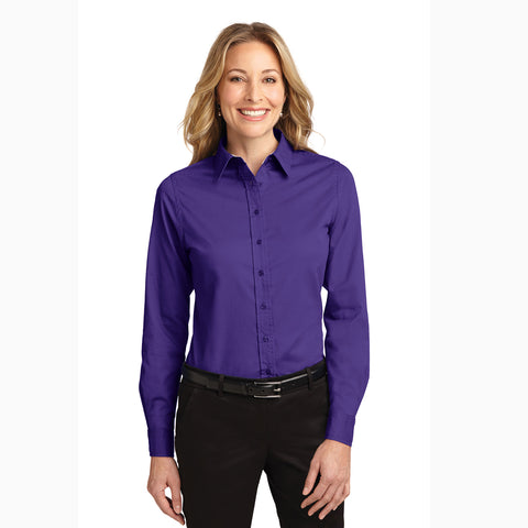 Women's Solid Purple Long Sleeve