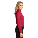 Port Authority Women's RED Easy Care Long Sleeve Shirt