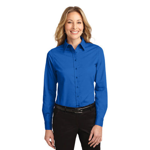 Port Authority Women's STRONG BLUE Easy Care Long Sleeve Shirt