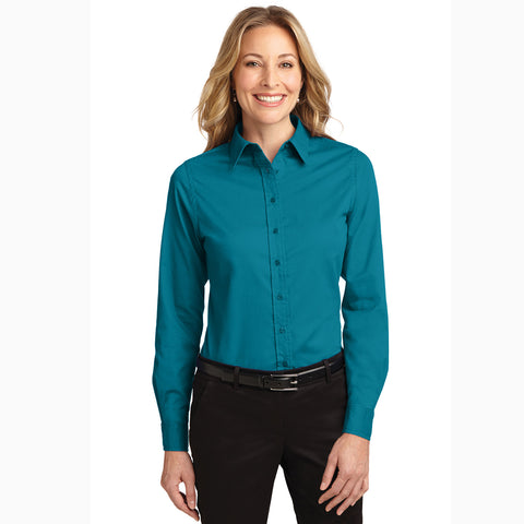 Women's Teal Green Long Sleeve Shirt
