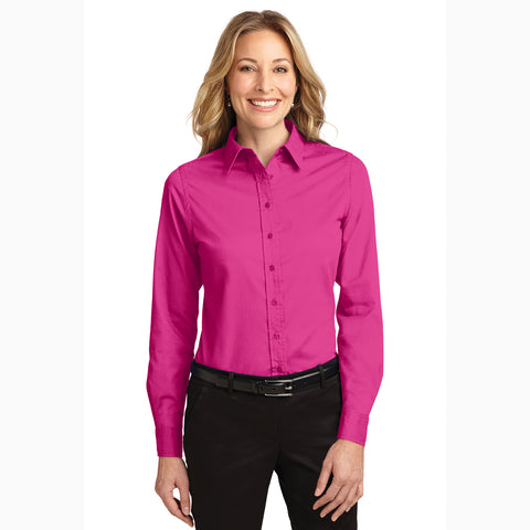 Women's Tropical Pink Long Sleeve Shirt