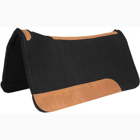 Mustang Black Brown Saddle Pad