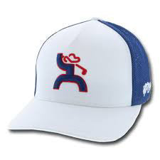 Hooey White and Blue Golf Flex Fit Cap