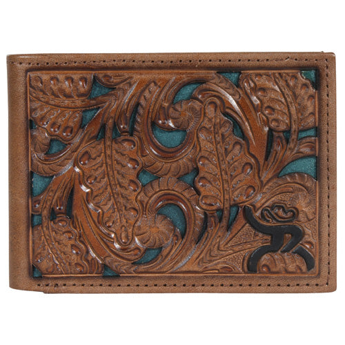 Hooey Chestnut and Green Floral Bifold