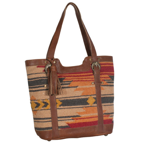 Women's Brown Aztec Rug Tote