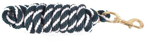 Hunter Green/White 8' Lead Rope