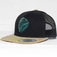 Hooey Black Quanah Snap Back Cap