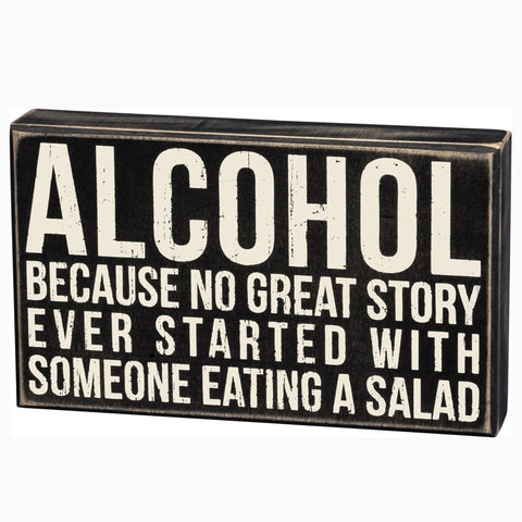 Alcohol Boxed Sign