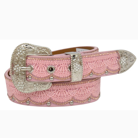 Girl's Pink Lace Belt