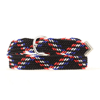 Blue Navy Red Web Belt