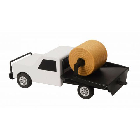 Little Buster Toys White Flatbed Hay Truck