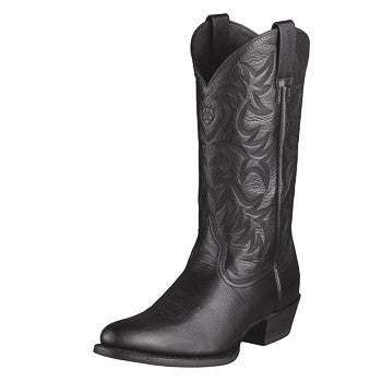 Ariat Men's Black Deertan Heritage Western Boot