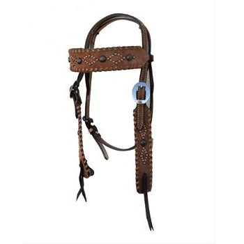 Chocolate Roughout Headstall