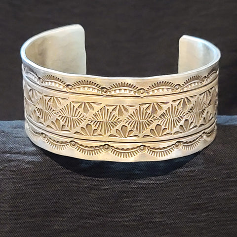 Sterling Floral Cuff