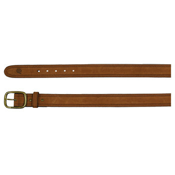 Brushed Brown Leather Belt