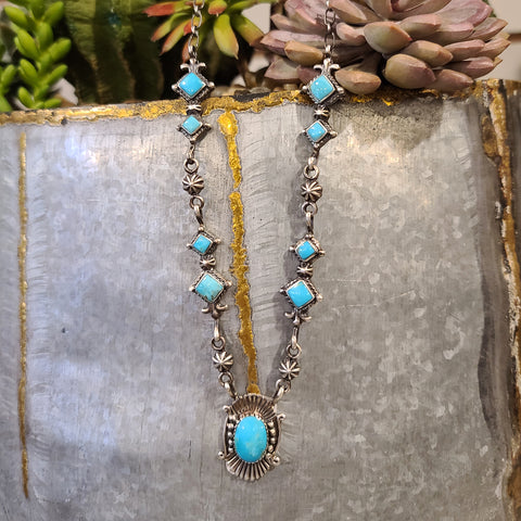 Platero Kingman Turquoise Necklace