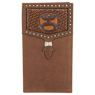 Hooey Brown Basket Weave Rodeo Wallet
