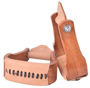 Showman Teak Wooden Stirrups