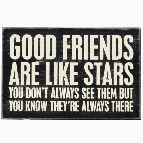 Good Friends Are Like Stars Postcard Sign