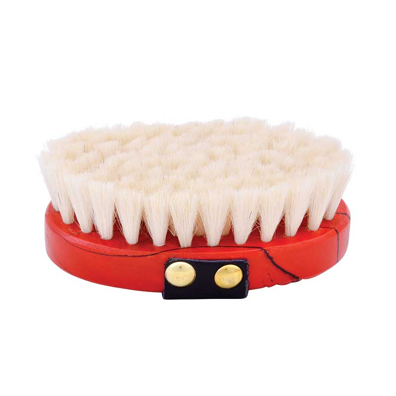 Wood Goat Hair Finishing Brush-Small