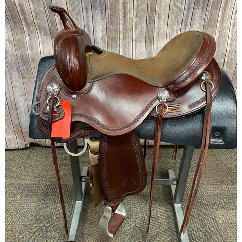 "Circle Y Gillette Trail Saddle with Rope Border, 16"" seat"