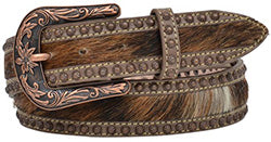 Women's Brown and Copper Hair Belt
